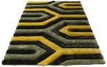3d grey yellow rug