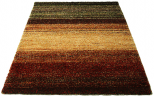 multi coloured rug gradient earth tones