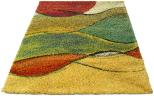 multi coloured rug waves