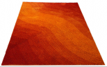 textured tangerine red orange