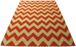 chevron rug orange