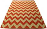 chevron rug orange