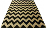 chevron rug black