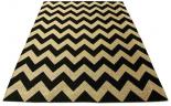 chevron rug black
