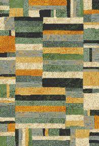 rug woven a green