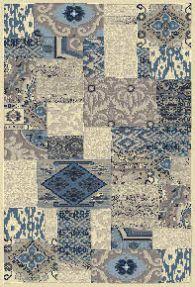 rug woven b soft blue
