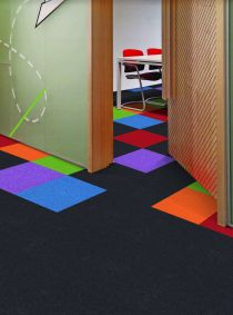 Presto pro plus multi coloured carpet tiles