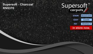 super soft supersoft carpet RN5370 Charcoal