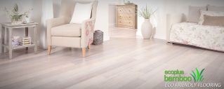 Limed white -- whitewash bamboo flooring grey