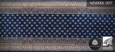 wool runner NZWOOL007 blue royal