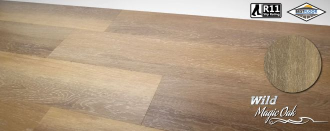 Luxury Wild magic oak grey ultimate vinyl planks r11 slip rating best floor