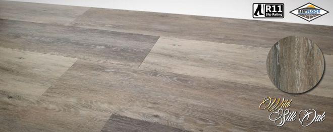 Luxury Wild silk oak grey ultimate vinyl planks R11 slip rated bestfloor