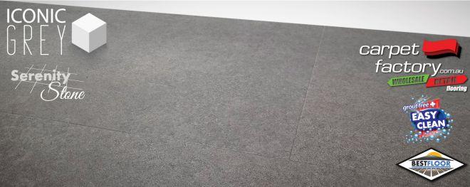 luxury vinyl serenity stone ceramic look bestfloor polished concreete cheapest