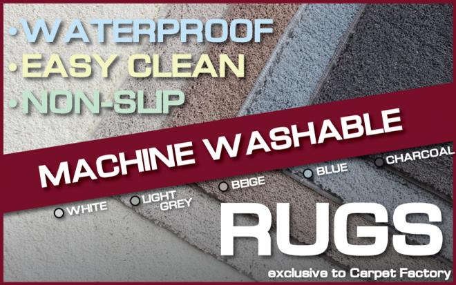 MACHINE WASHABLE RUG EASIEST TO CLEAN