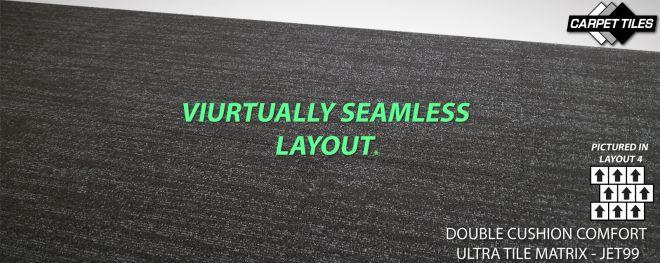matrix ultra tile virtual seam less seamless see no joins carpet tile